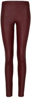 Elle.Sd Leather Leggings in Burgundy