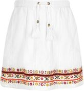 River Island Girls white bead embellished skater skirt