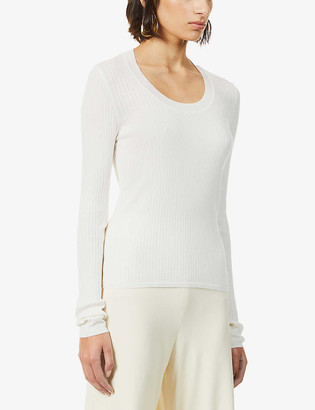 The Row Amaia ribbed wool-blend jumper