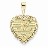 PriceRock 14k Gold 25th Anniversary Charm