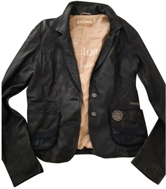 Galliano Navy Leather Jacket for Women