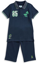 Bob Der Bar Two-Piece Palm Polo and Shorts Set