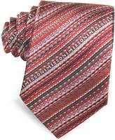 Missoni Diagonal Stripe and Signature Woven Silk Narrow Tie