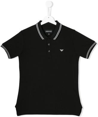 Emporio Armani Kids Logo Embroidered Polo Shirt