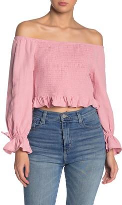 Cotton On Off-the-Shoulder Smocked Top