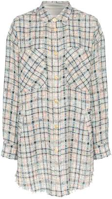Faith Connexion oversized checked boucle shirt