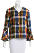 Suno Plaid Patterned Linen Blazer w/ Tags