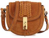Altuzarra Ghianda Woven Suede Saddle Mini Bag, Teak