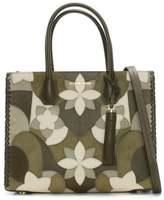 Michael Kors Mercer Olive Floral Patchwork Tote Bag