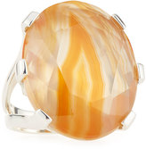 Stephen Dweck Oval Agate Triplet Statement Ring