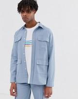 Sacred Hawk two-piece worker jacket in light blue