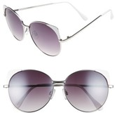 BP Women's 60Mm Cat Eye Corner Round Sunglasses - White/ Gold