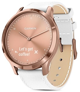Garmin Vivomove Hr Rose Gold Touchscreen Hybrid Smartwatch, 43mm