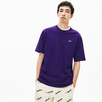 Lacoste Men's LIVE Double-Collar Cotton T-Shirt
