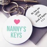 Hurley Sarah Personalised Nanny's / Granny's Keys Message Keyring