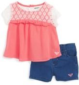 Roxy Infant Girl's Britton Gauze Top & Shorts Set