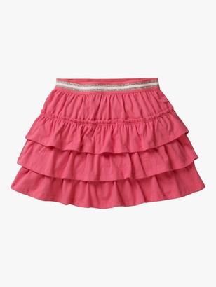 Boden Girls' Jersey Ruffle Skort, Pink