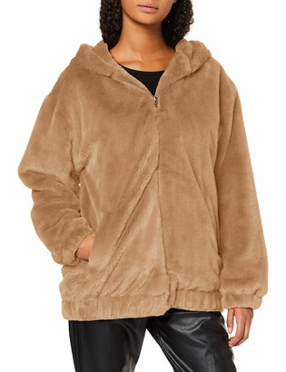 New Look Women's Frankie Fur Hooded Bomber Jacket
