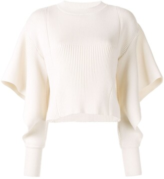 AKIRA NAKA cut-out sleeve knitted jumper