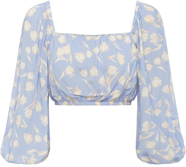 Thumbnail for your product : Peony Swimwear Tulip Print Cropped Blouse