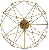 One Kings Lane Angular Wirework Wall Clock - Gold