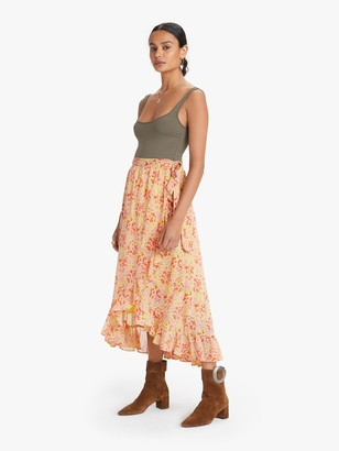 Banjanan Wrap Skirt - Clover Field Yellow
