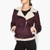 Ikks Dual Fabric Zip-Up Biker Jacket