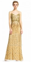 Adrianna Papell Sequin Embellished Blouson Evening Dress