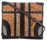 Carlos Falchi Snakeskin & Lizard Crossbody Bag