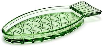 Serax Fish & Fish Collection Glass Fish Dish Small Transparent Green
