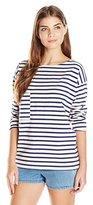 MiH Jeans Women's Pocket Brenton Striped Top
