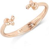 Kenneth Cole New York Rose Gold-Tone Knotted Hinged Bangle Bracelet