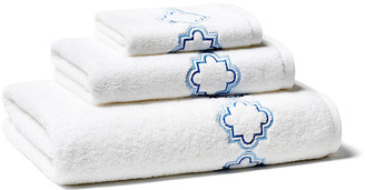Hamburg House Quatrefoil Towel Set - Blue