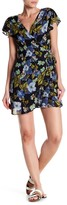Angie Surplice V-Neck Wrap Print Dress