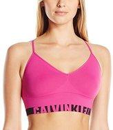 Calvin Klein Women's Logo Cotton Longline Multiway Bralette