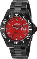 Invicta Men's 'Pro Diver' Quartz Stainless Steel Diving Watch, Color:Black (Model: 23007)