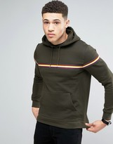 Brave Soul Stripe Chest Hoodie