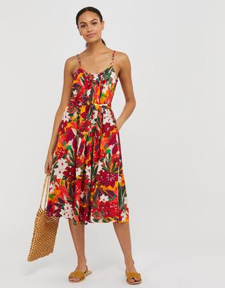 Under Armour Alaska Printed Dress in Organic Cotton Orange