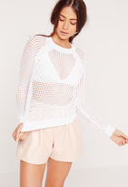Missguided White Pointelle Sweater