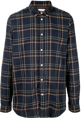 Paul Smith Checked Print Long Sleeve Shirt