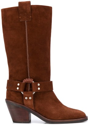 See by Chloe side buckle knee length boots
