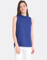 Forcast Tabitha Rolled Collar Top
