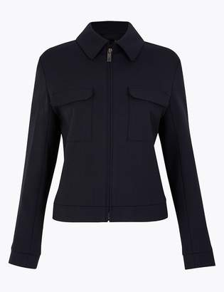 Marks and Spencer Wool Rich Utility Short Jacket