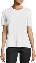 Eileen Fisher Short-Sleeve Slubby Organic Jersey Top, Petite