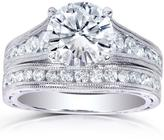 Kobelli Jewelry Kobelli 2 3/7 CT TW Round-Cut Diamond 14K White Gold Vintage-Style Bridal Set