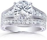 Kobelli Jewelry Kobelli 2 3/7 CT TW Round-Cut Diamond 14K White Gold Vintage-Style Bridal Set