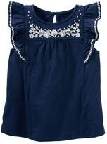 Osh Kosh Oshkosh Bgosh Girls 4-8 Embroidered-Yoke Top
