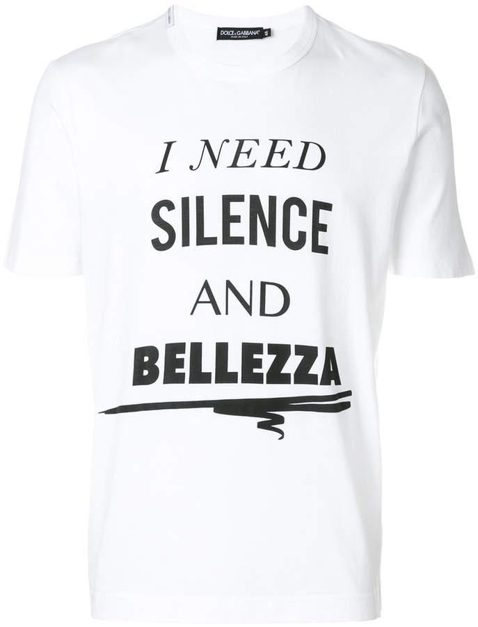 Dolce & Gabbana Silence and Bellezza T-shirt
