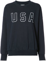 Anine Bing USA sweatshirt - women - Cotton/Polyester - S