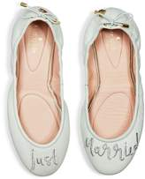 Kate Spade Gwen Leather Just Married Travel Ballet Flats